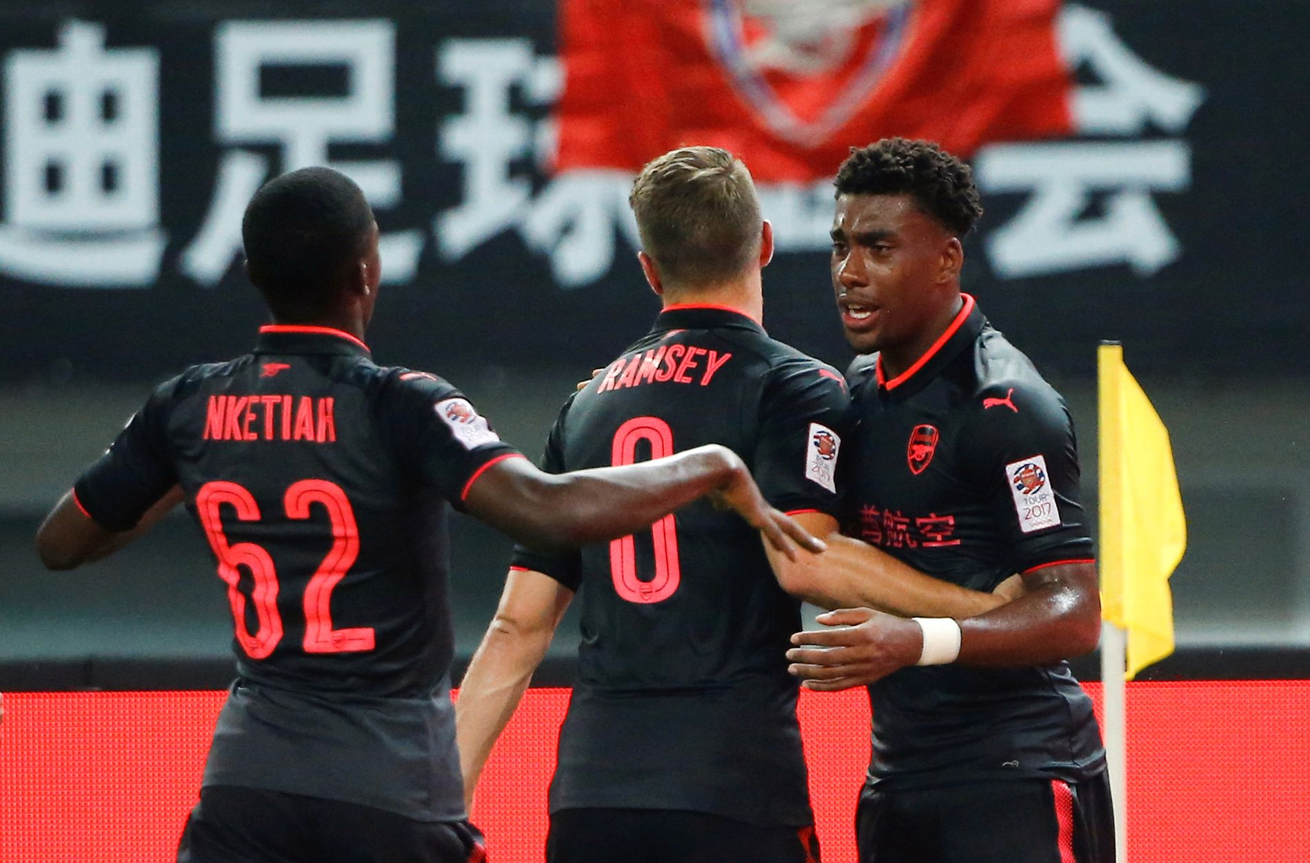 HELTEN: Alex Iwobi reddet Arsenal på overtid mot Bayern München – så satte han inn nådestøtet på straffe.