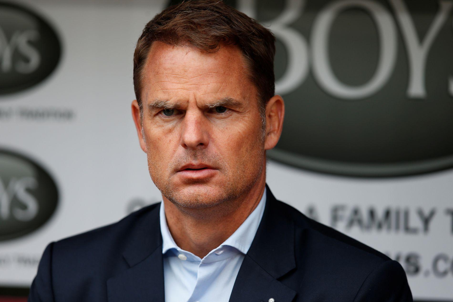 FERDIG: Frank de Boers Premier League-karriere ble av det kortvarige slaget.