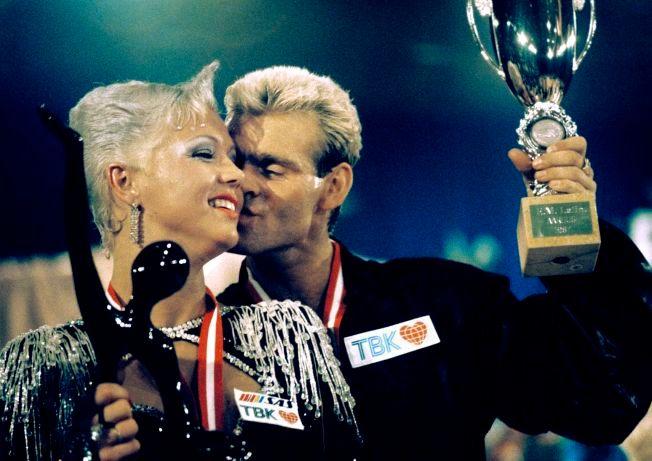 BEST I VERDEN: Tone Nyhagen og Knut Sæborg ble to år på rad verdensmestere i latinamerikansk dans.