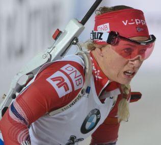 BESTE NORSKE: Tiril Eckhoff etter målgang på sprinten.