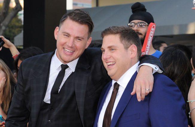 GODE VENNER: Channing Tatum og Jonah Hill på premieren av «22 Jump Street».