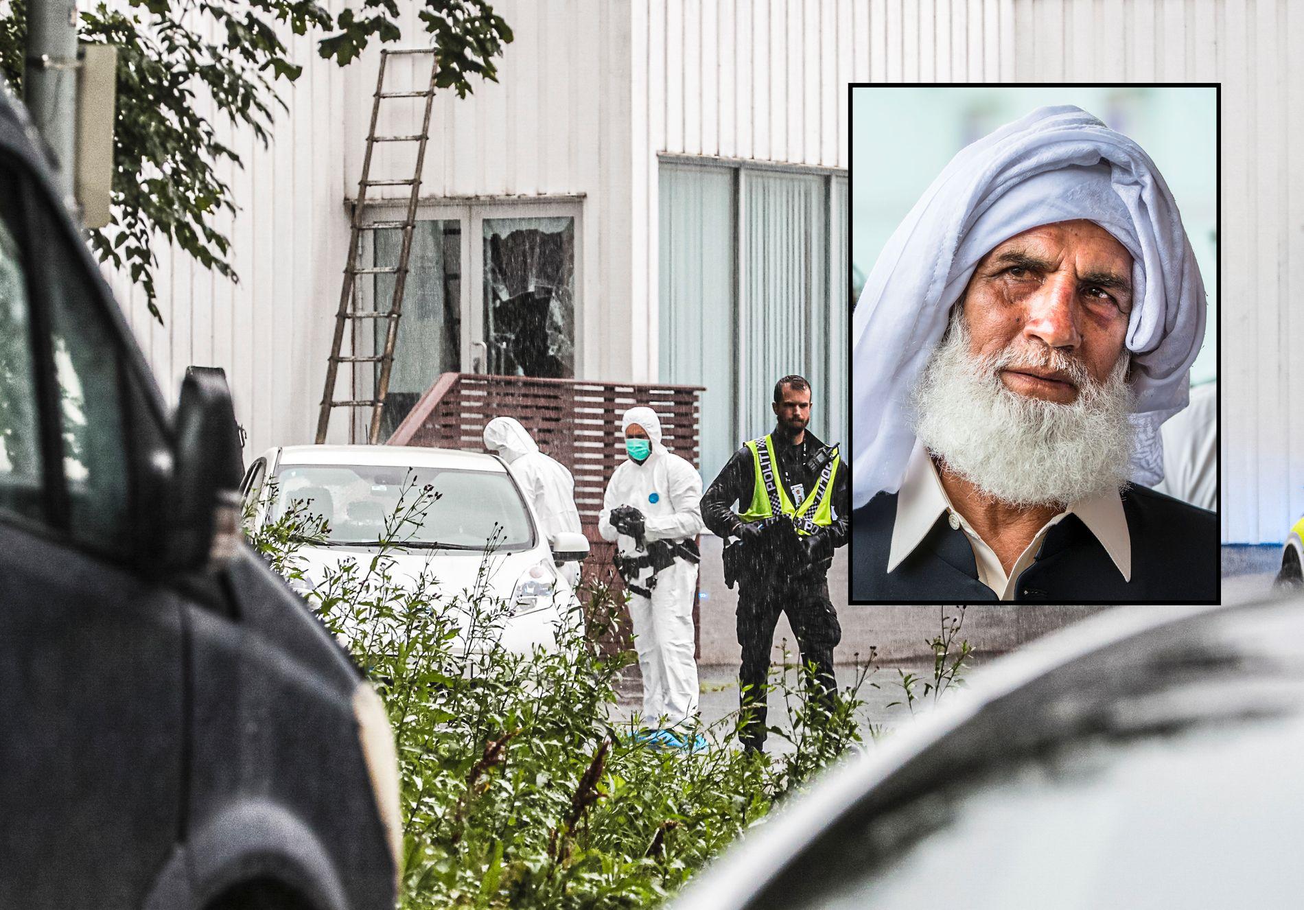 OVERMANNET: 65 år gamle Muhammad Rafiq overmannet 21-åringen som skjøt seg inn i moskeen i Bærum.
