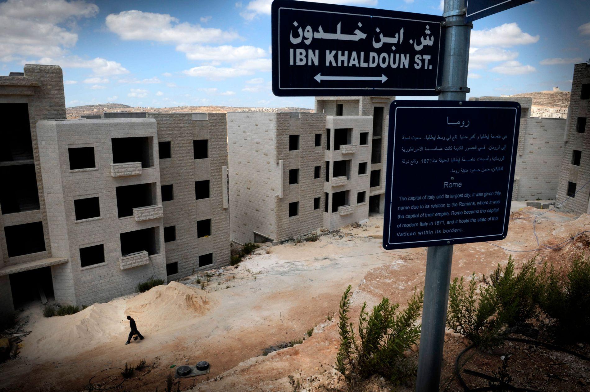 VIL ANNEKTERE: Statsminister Benjamin Netanyahus parti ønsker at Israel skal anektere store deler av Vestbredden. Her er byen Ramallah.