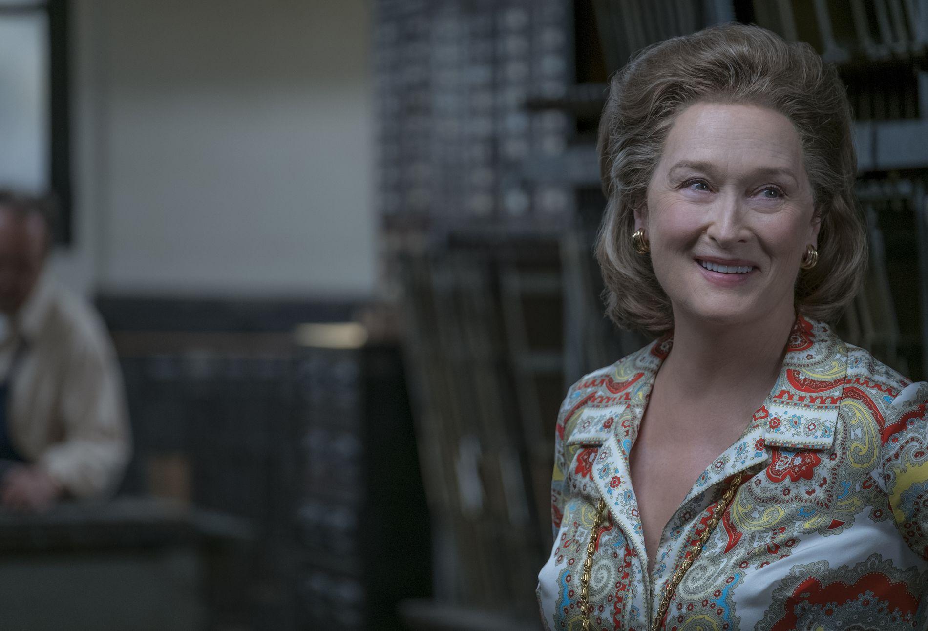 KVINNELIG SJEFREDAKTØR: Meryl Streep i rollen som Washington Post-redaktør Katharine Graham.