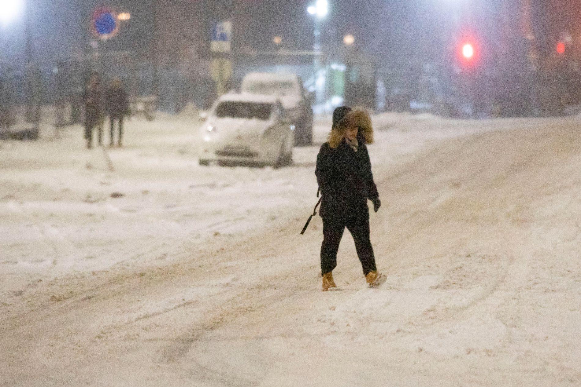 mm nedbør til snø