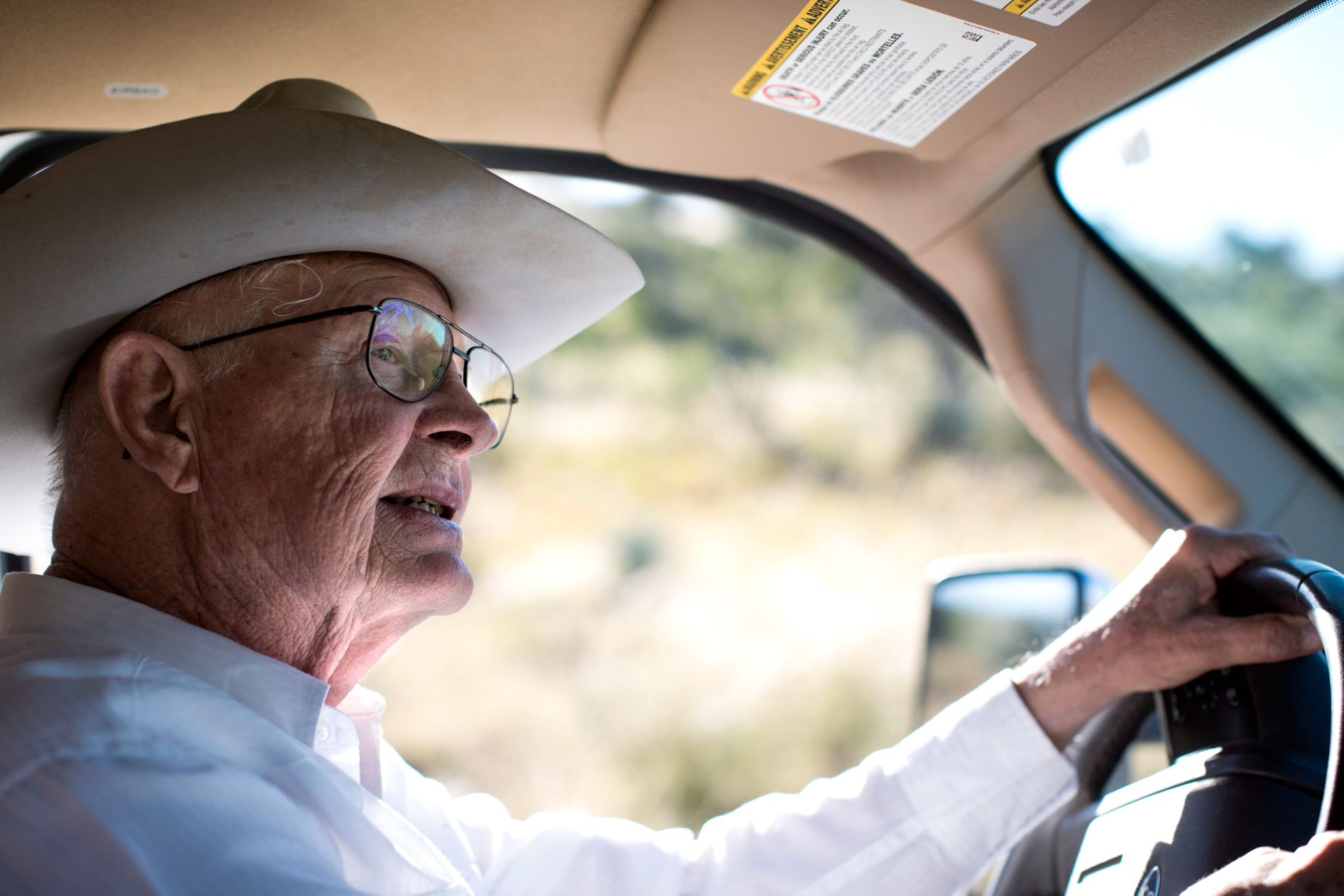 VIL HA MUR: Jim Chilton vil ha Trumps mur, bedre veinett og fremskutte basestasjoner fra Border Patrol på grensen mot Mexico.