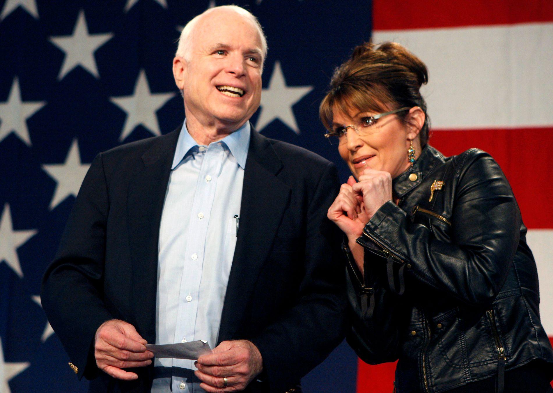 VISEPRESIDENTKANDIDAT: John McCain valgte Palin som sin visepresident da han gikk for å bli president i 2008.
