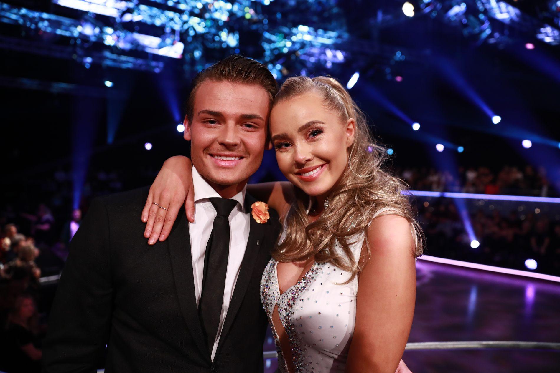 PARTNERE: Aleksander Sæterstøl og Martine Lunde da de begge var deltagere i «Skal vi danse» høsten 2018.