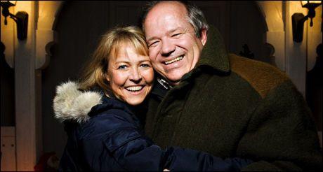 BONDEROMANTIKK: Anders Berg og Christin Øren Iversen forelsket seg under fjorårets sesong av Jakten på kjærligheten. Foto: VG