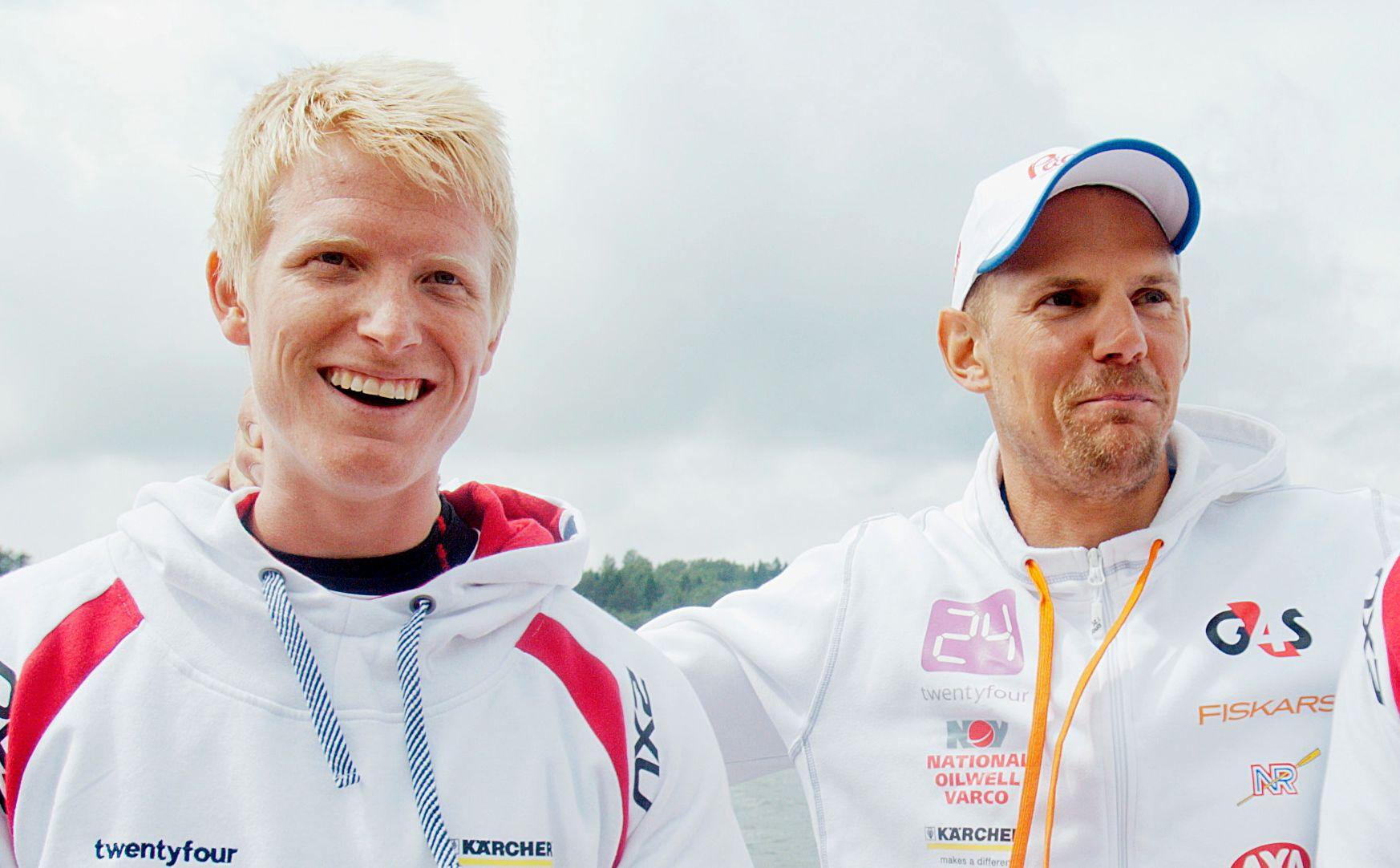 NY BÅT: KJetil Borch og Olaf Tufte sitter for første gang sammen i en internasjonal konkurranse fredag. Verdenscupen åpner i italienske Varese.