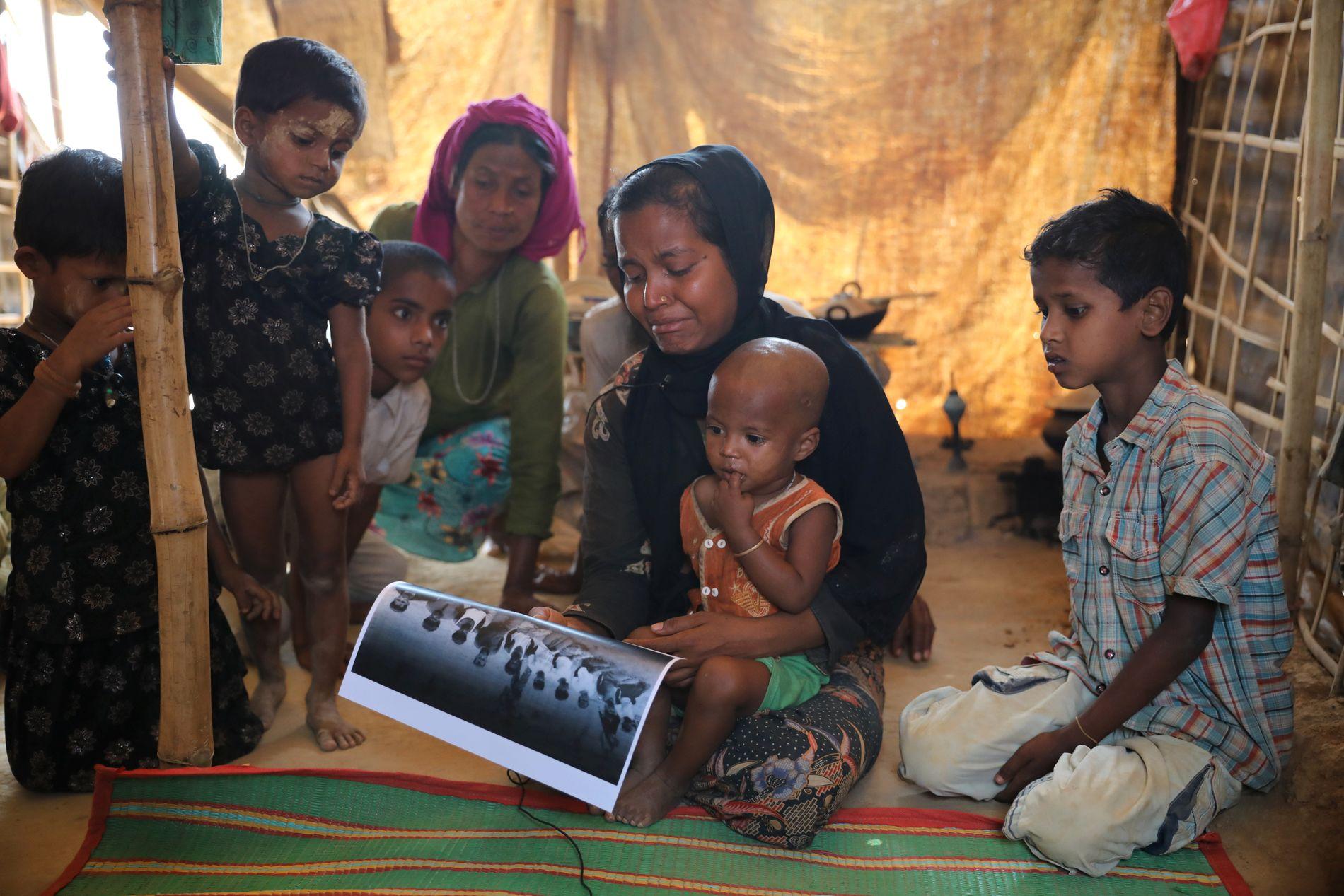 HAN KRANGLET ALDRI: Settara Begum, 22, mistet mannen Shoket Ullah i massakren. Mannen min var snill. Han solgte fisk. Han kranglet aldri med noen, sier hun til Reuters. Hun flyktet med datteren som nå er 18 måneder gammel.