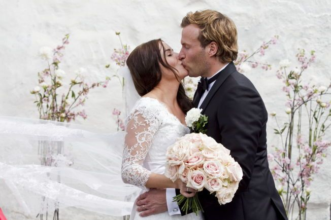 DEN GANG DA: Marion Ravn og Andreas Ygre Wiig giftet seg i Nøtterøy kirke for to år siden.