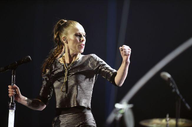 IDOL PÅ ORDENTLIG: Gabrielle på gårsdagens Nobelkonsert. Foto: AFP