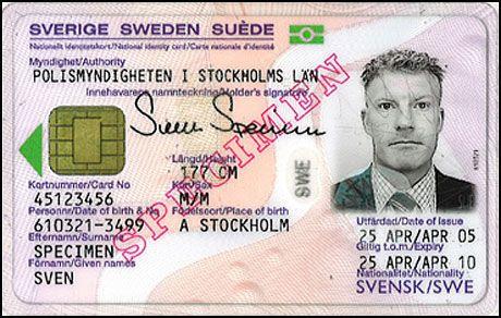 FORSLAG: Slik ser forslaget til nasjonalt ID-kort i Sverige ut, norske myndigheter ønsker seg en likennde løsning. Foto: Regjeringen.no