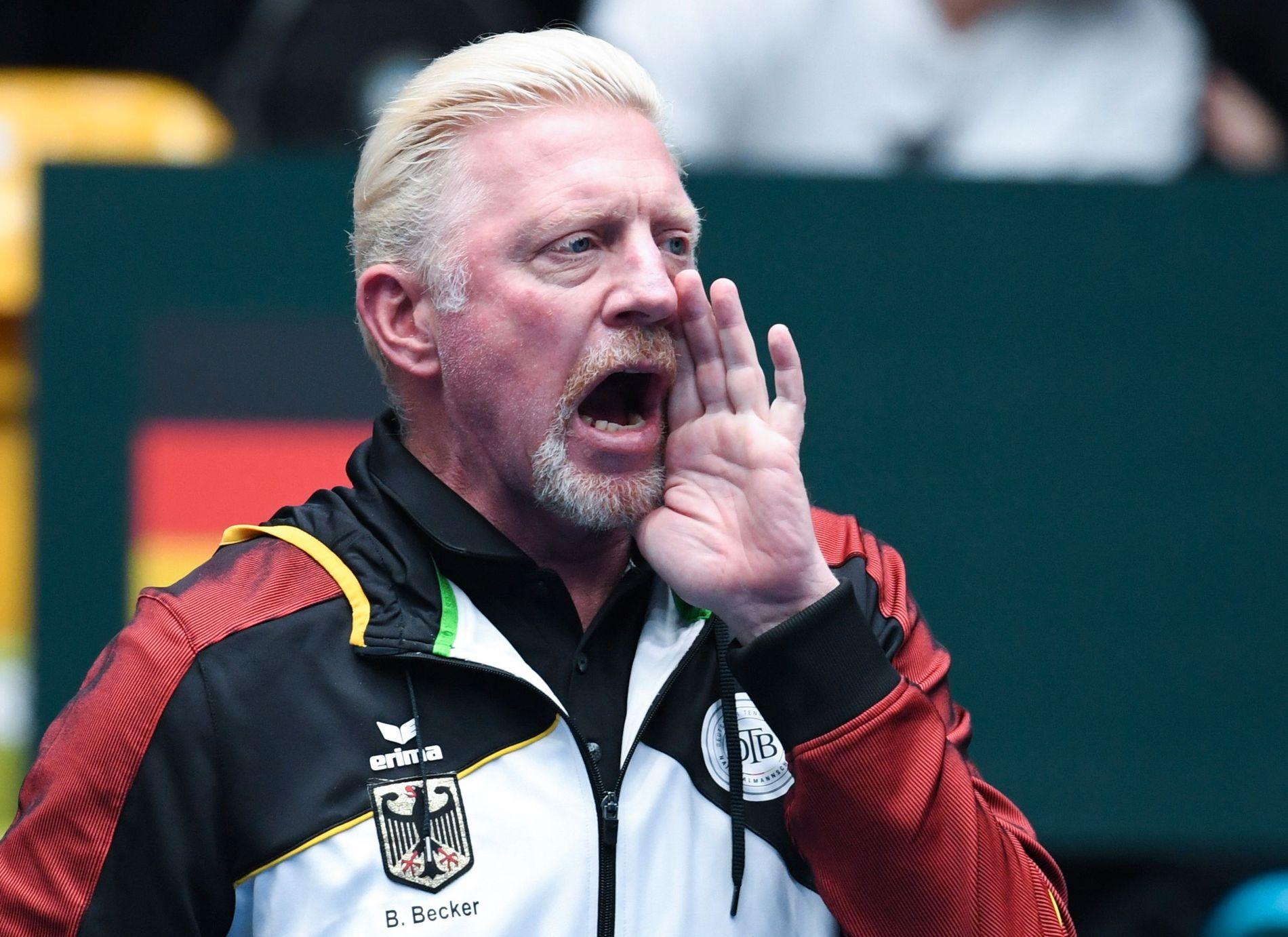 HELT SJEF: Boris Becker er nå leder for herrene i det tyske tennisforbundet. Her er han under en kvalifiseringskamp til Davis Cup tidligere i år.
