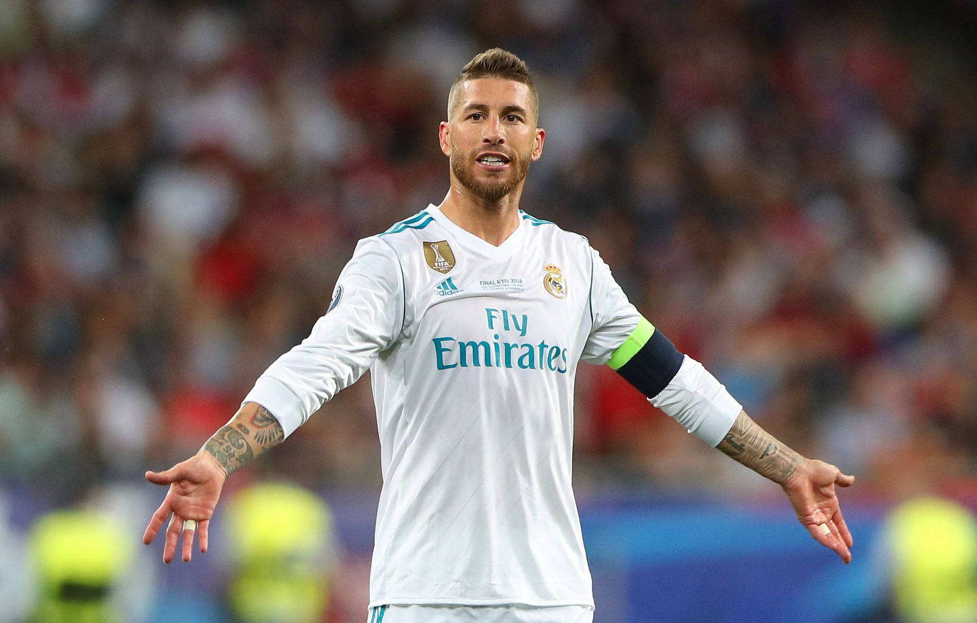 I HARDT VÆR: Sergio Ramos, her fra Champions League-finalen mot Liverpool, er i hardt vær om dagen.