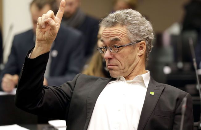 Oslo 20141203. Miljøpartiet De Grønnes Rasmus Hansson er skeptisk til Statens pensjonsfond utlands investeringer i kull og petroleumsselskaper Foto: Vidar Ruud / NTB scanpix
