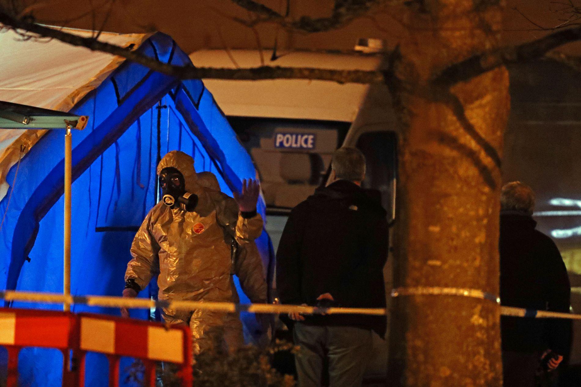 FUNNET HER: Politiet etterforsker etter at eks-spionen og datteren ble funnet bevisstløse.