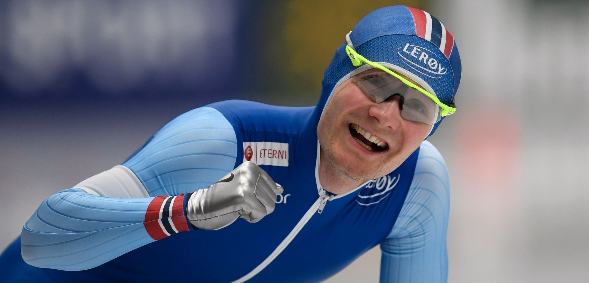 DEN SATT! Sverre Lunde Pedersen var så glad rett etter målpassering.