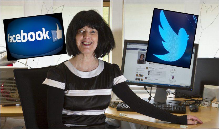 EKSPERTEN: Berit Skog er førsteamanuensis på Institutt for sosiologi og statsvitenskap på NTNU og forsker på Facebook. Bildet er tatt oktober 2010. Foto: THOR NIELSEN/REUTERS/AFP