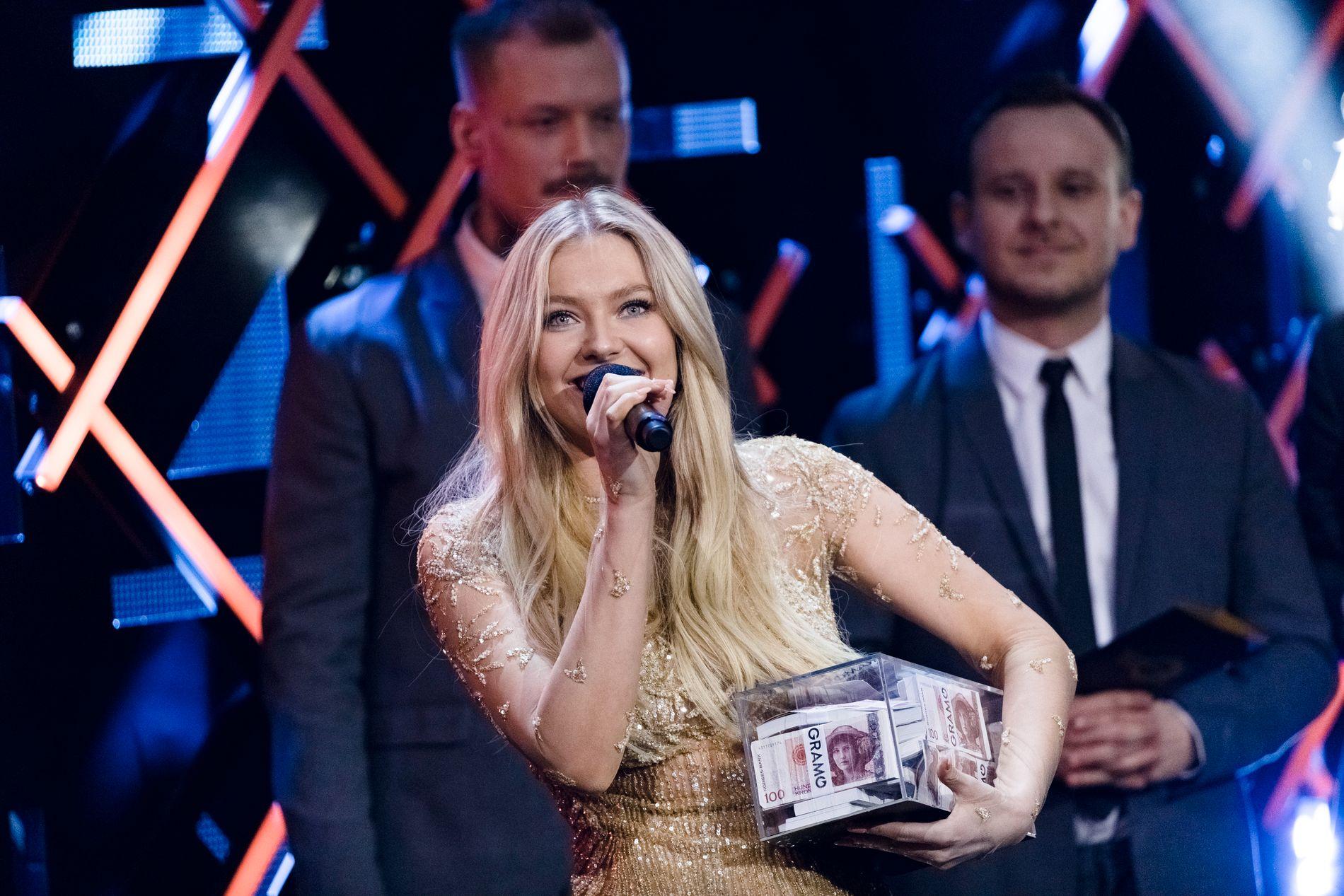 VANT: Astrid Smeplass ble årets nykommer og fikk Gramo-stipend på 250 000 kroner under årets Spellemann.