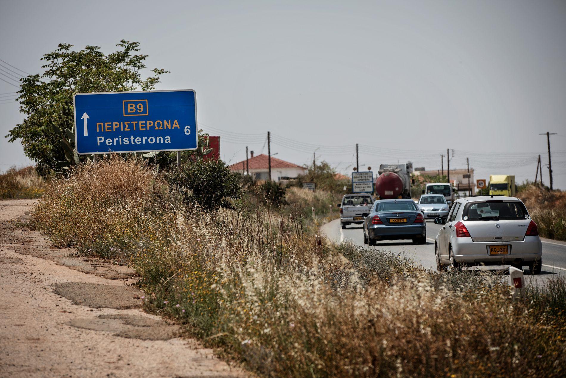 MULIG FLUKTRUTE: En av de fire mennene som er pågrepet og mistenkt i forbindelse med barnefordelingssaken, har røtter i landsbyen Peristerona, nær buffersonen.