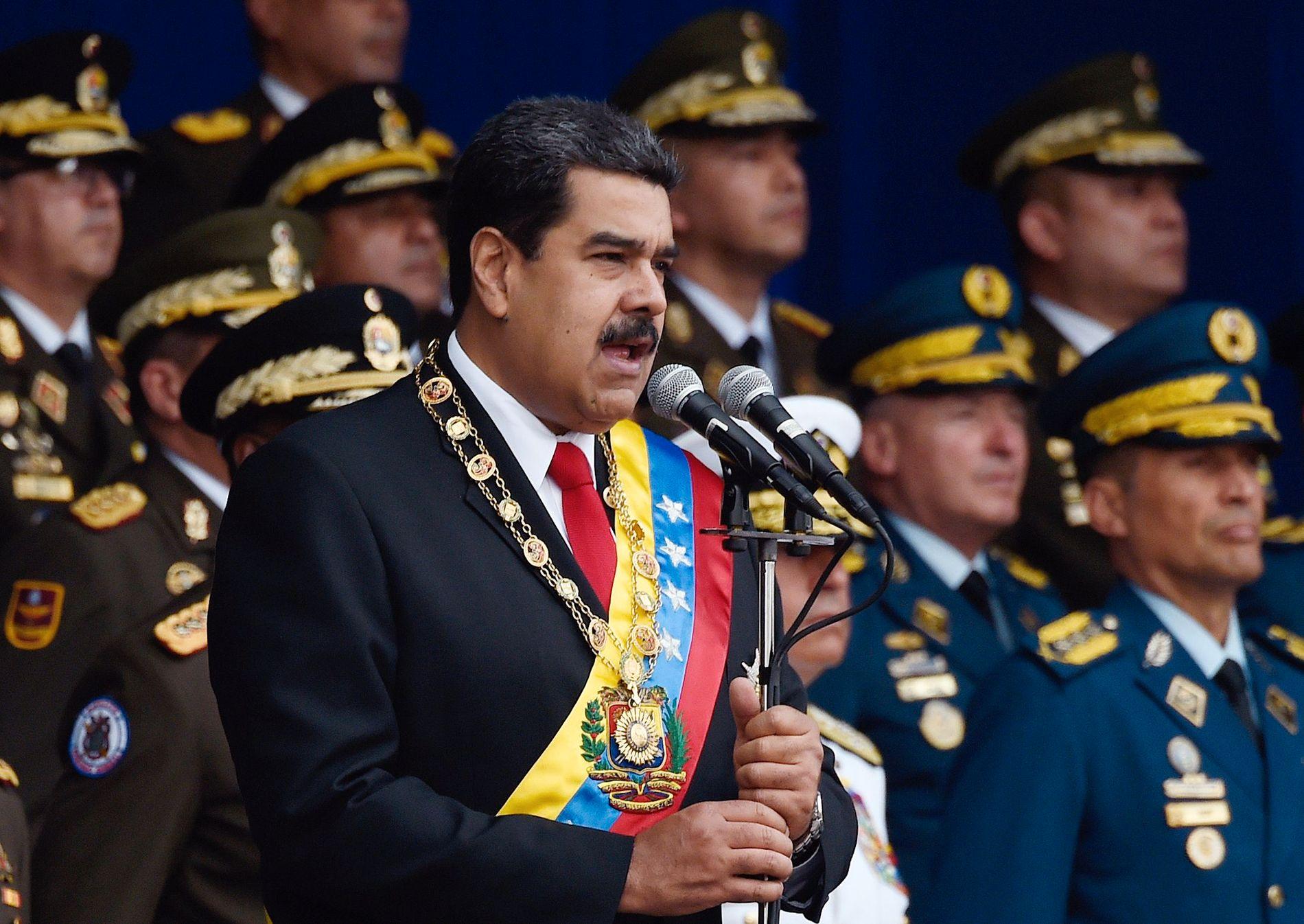 ØNSKES VEKK: Venezuelas president Nicolás Maduro er ikke populær i USA. Det siste året har personer i Trumps administrasjonen skumlet om et statskupp i det Søramerikanske landet.