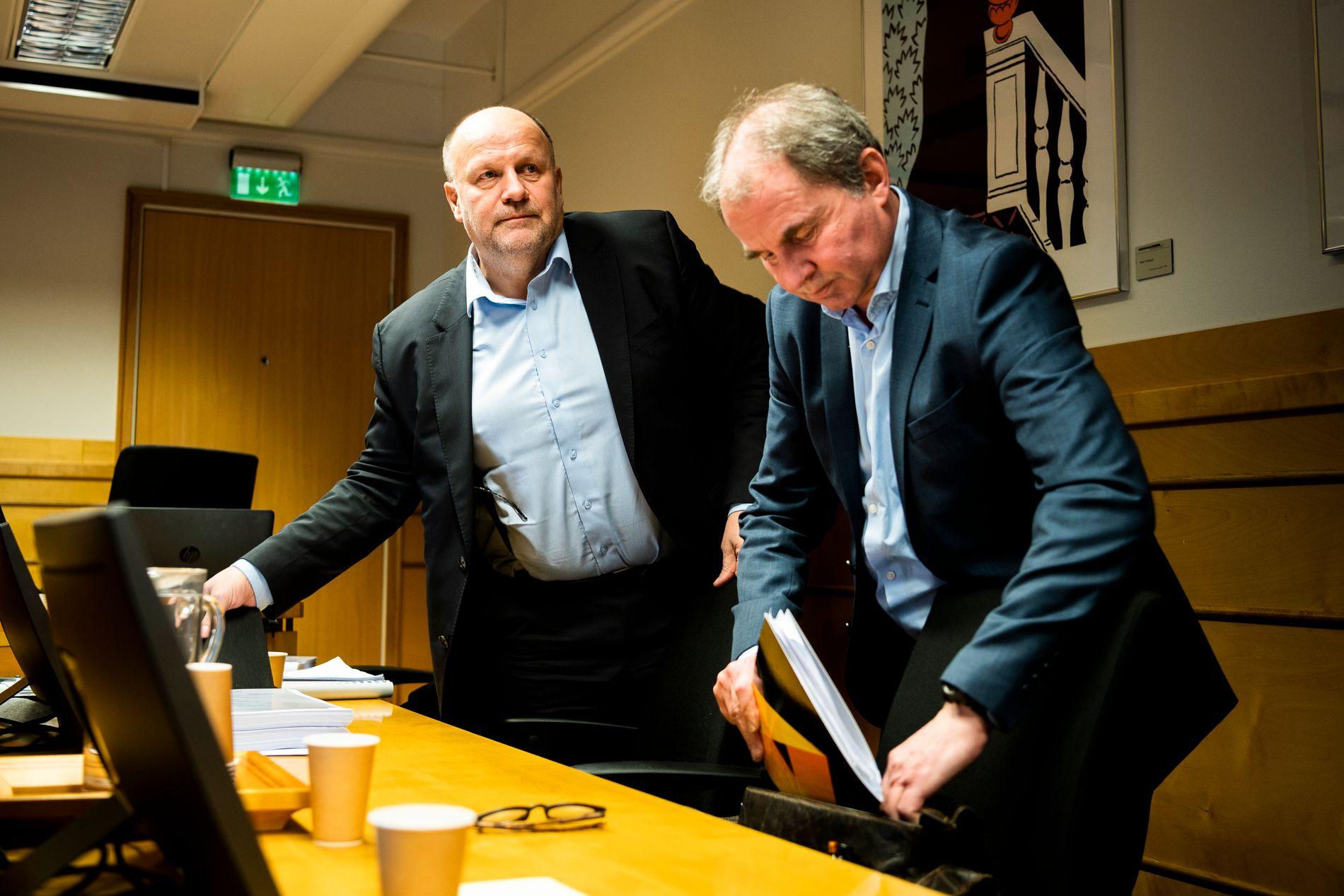 I RETTEN: Styreleder Ivar Koteng og organisasjonsleder Trond Alstad møtte i tingretten etter at klubben ble saksøkt av Kåre Ingebrigtsen.
