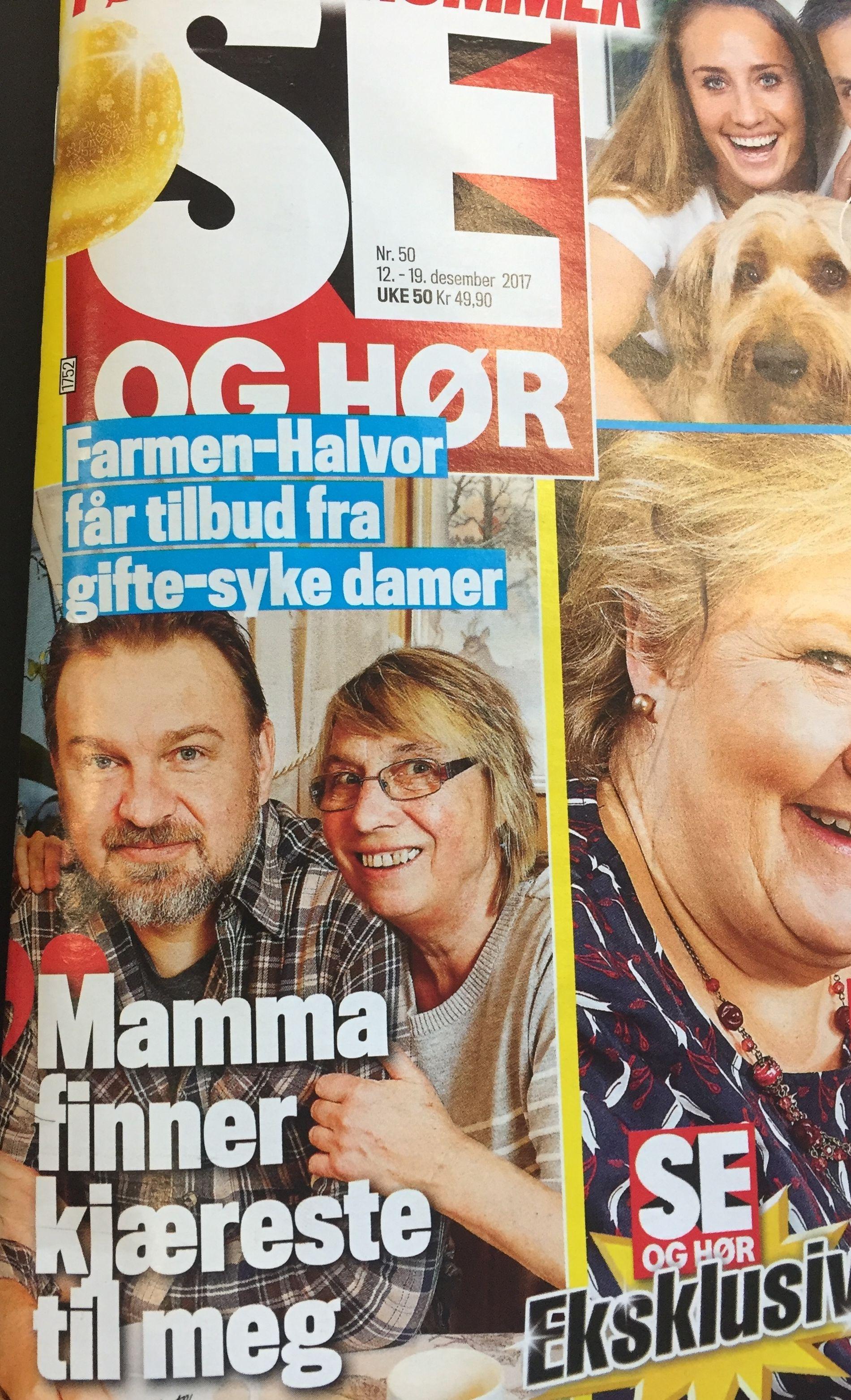FEILINFORMERER: Dagens Se og Hør-forside. (faksimile)
