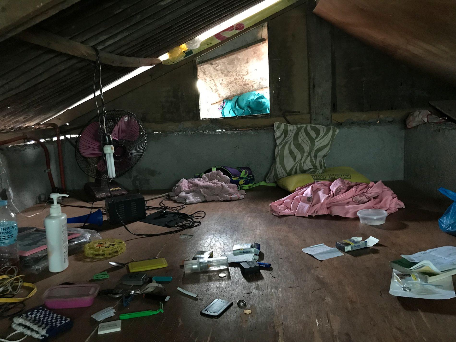 Dette bildet ble tatt i huset hvor norsk og filippinsk politi aksjonerte torsdag.