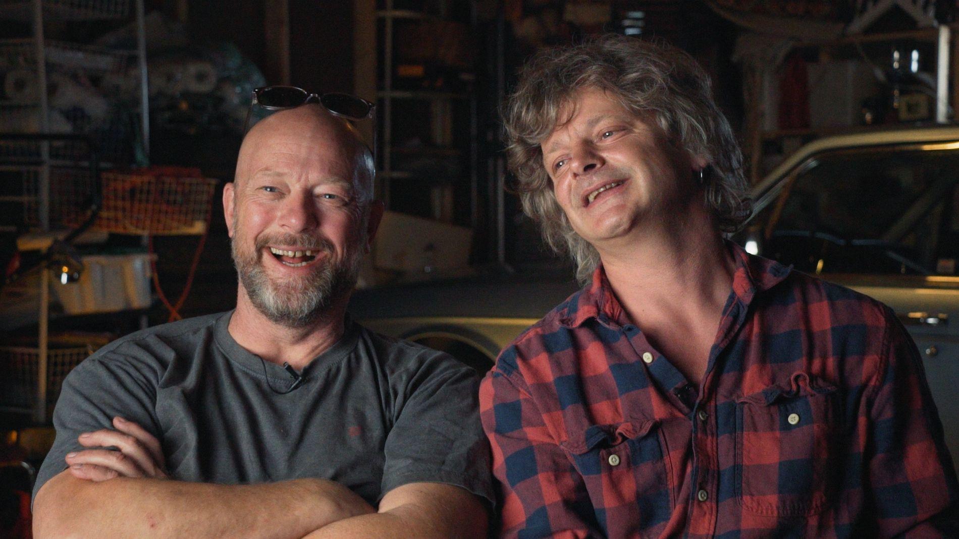 KJENTE TRYNER: Geir Schau (til venstre) og Prepple Houmb i «For vi er gutta».