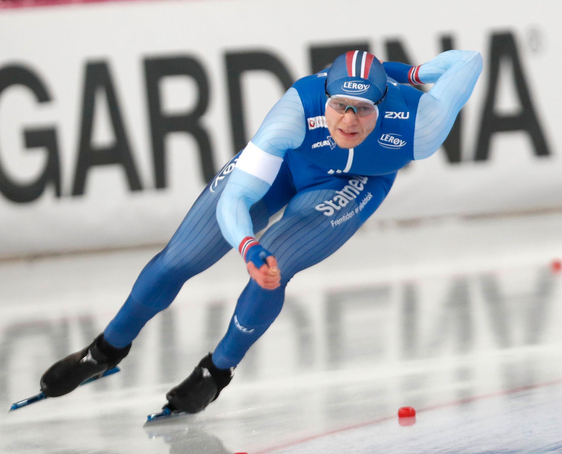 4. PLASS: Håvard Lorentzen måtte se seg slått av tre nederlendere og endte på 4. plass på 1000 meter i VM.