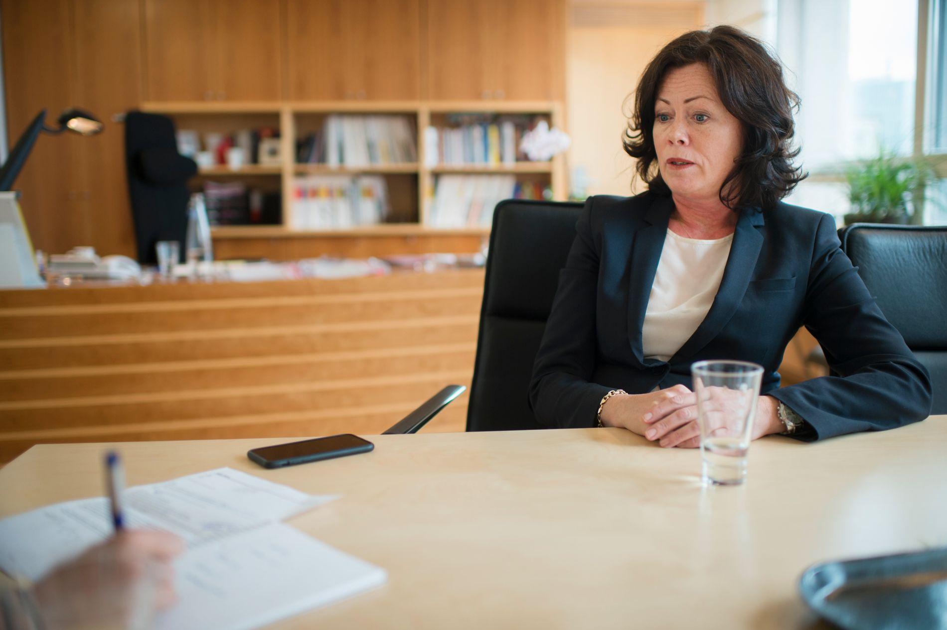 ANSVARLIG STATSRÅD: Barneminister Solveig Horne (Frp) møtte VG på kontoret sitt i Oslo torsdag