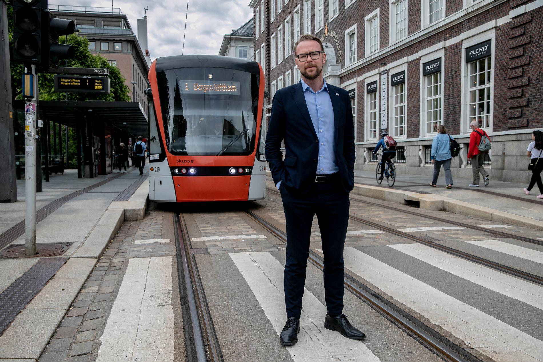 BERGENSK BOM-DILLA: Harald Victor Hove, byrådslederkandidat for Høyre i Bergen, sliter med oppslutningen etter en bom-boom.