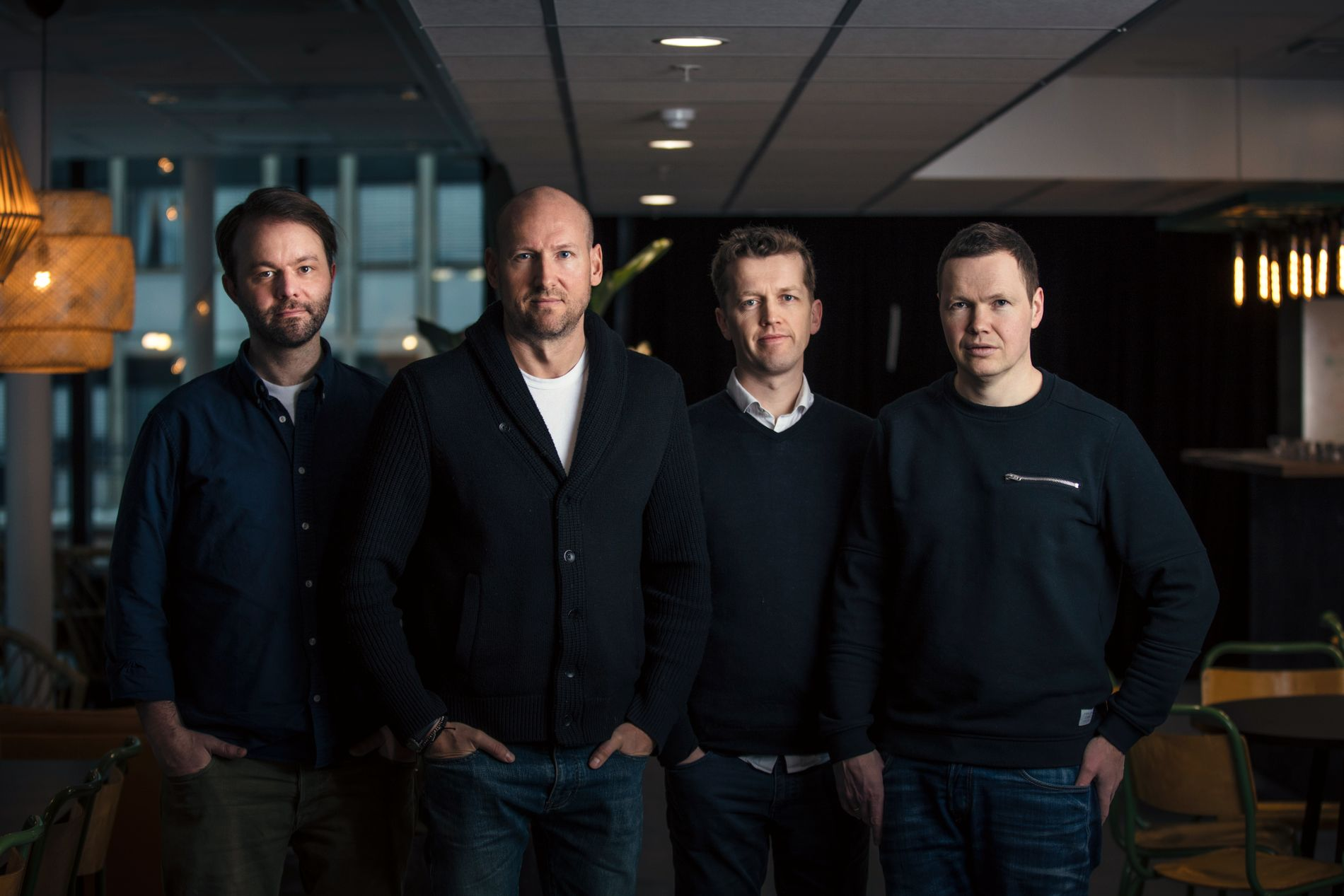 STARTER UTDANNING: Amund Bjørklund, Tor Erik Hermansen, Lars Hustoft og Magnus Beite starter LIMPI - musikkutdanning på Lillehammer.