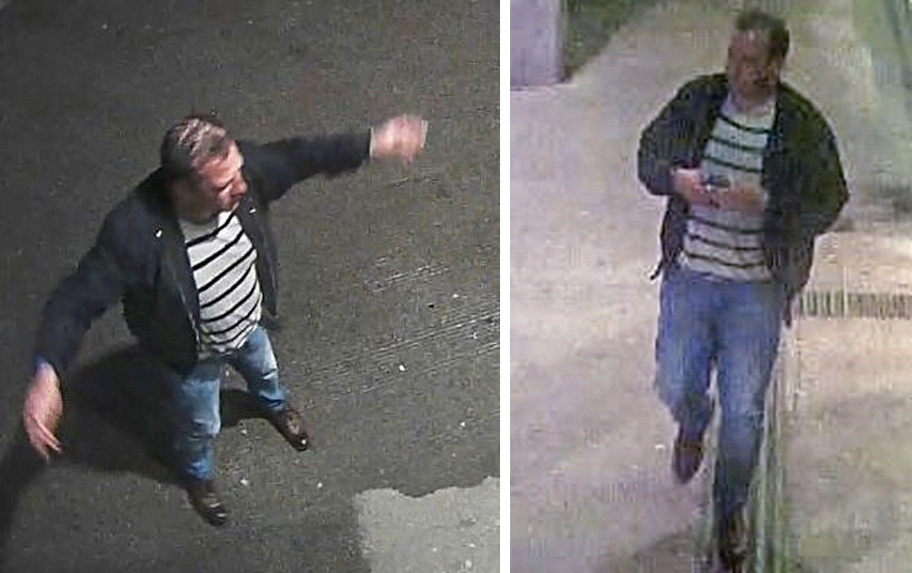 OVERVÅKNINGSBILDER: Politiet etterlyser vitner i saken, og har i den forbindelse frigitt overvåkningsbilder av avdøde Ronny Nygård fra 1. juni.