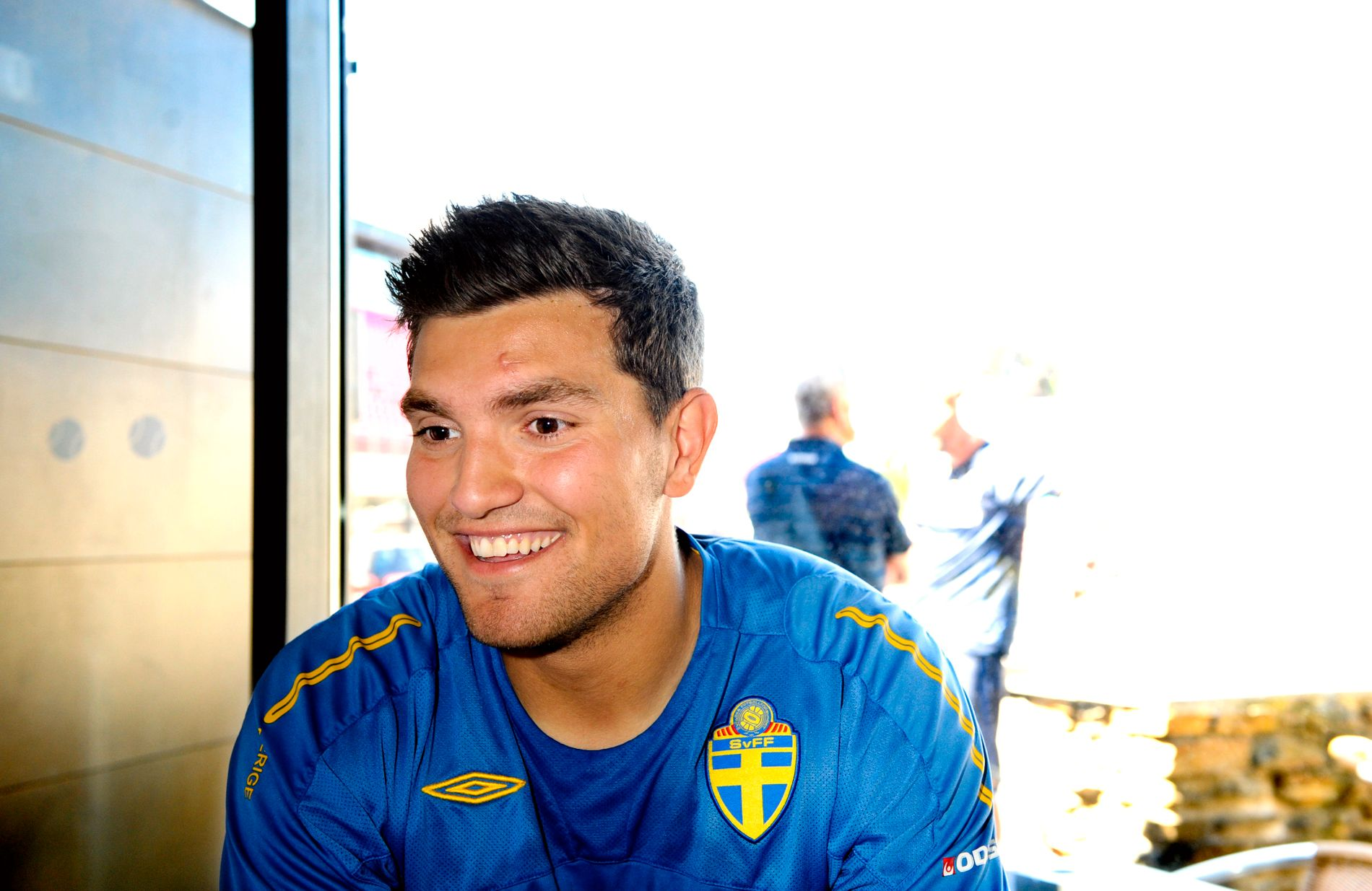 GIKK BORT: Labinot Harbuzi var sett på som et utrolig talent og spilte på aldersbestemte. Her fra lagets pressetreff under U21-EM i 2009.
