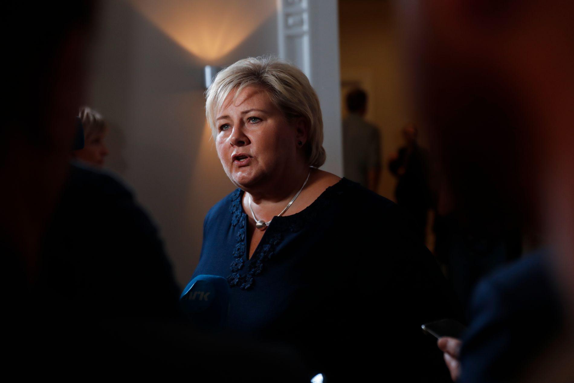 MÅ SVARE: Statsminister Erna Solberg (H).