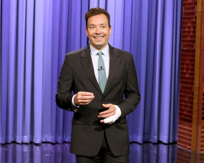 TILBAKE PÅ SKJERMEN: Mandag var Jimmy Fallom tilbake på skjermen og forteller om hvorfor han måtte avlyse innspillingen i to uker.