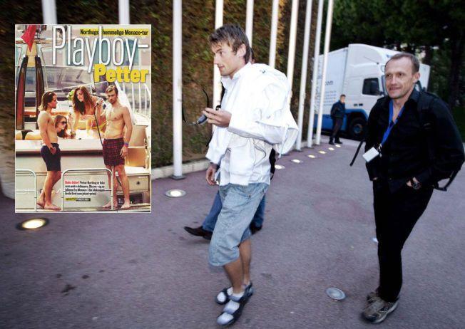 SAMMEN I MONACO: Her er Petter Northug sammen med Vi Menn-journalist og forfatter Thorkild Gundersen i Monaco i forbindelse med European Poker Tour 26. april 2010. Innfeldt er bildet som blant annet ble brukt av Se og Hør der Northug ble omtalt som «Playboy-Petter».