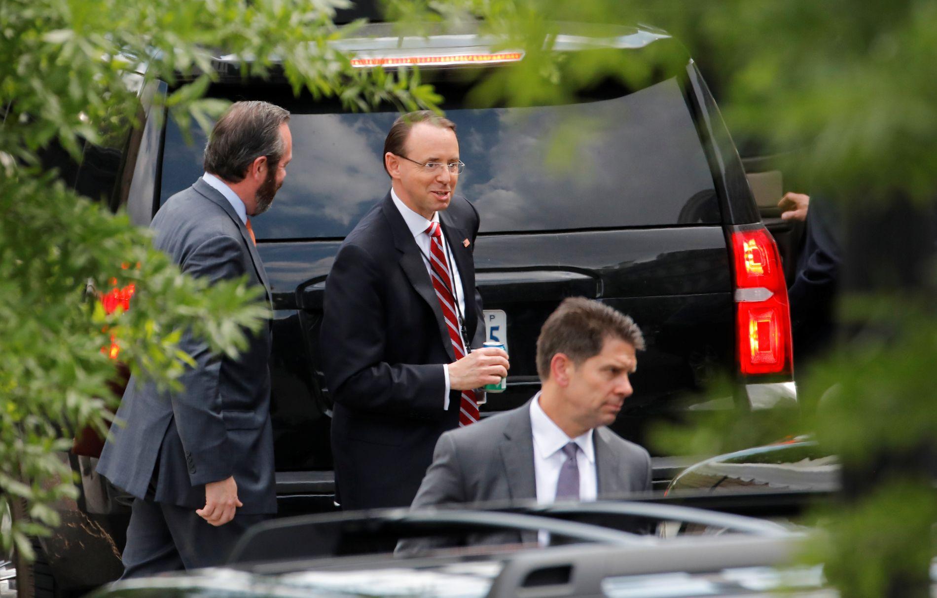 VISEJUSTISMINISTER: Rod Rosenstein er Robert Muellers overordnede ettersom justisminister Jeff Sessions erklærte seg inhabil.