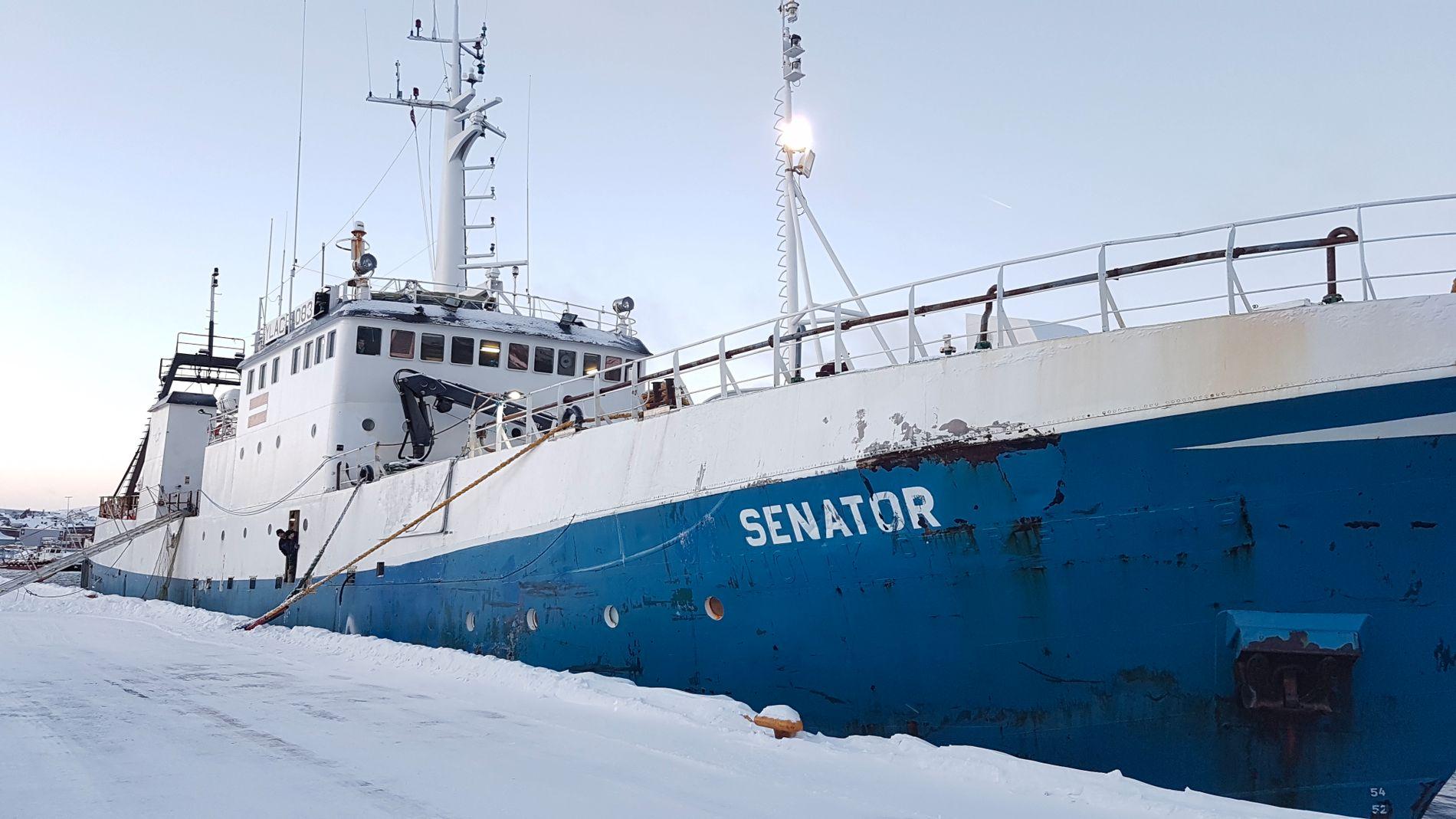 I ARREST: Det latviske fartøyet Senator ble i forrige uke brakt inn til kai i Kirkenes av Kystvakten.