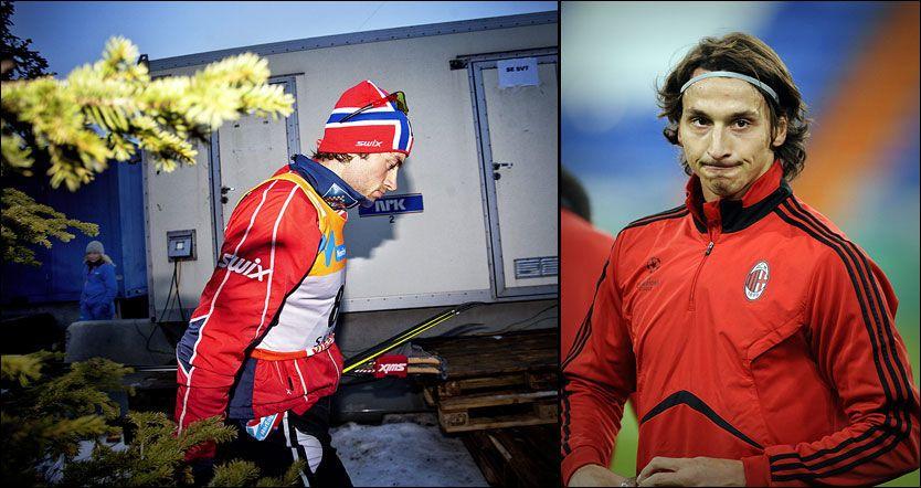 267f00ae (VG Nett) Zlatan Ibrahimovic (30) mener Petter Northug (25) har «bra  attityd».