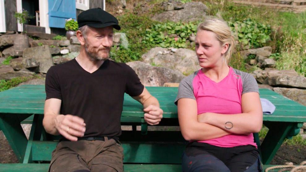 ANSPENT: Geir Magne og Karianne i alvorsprat.