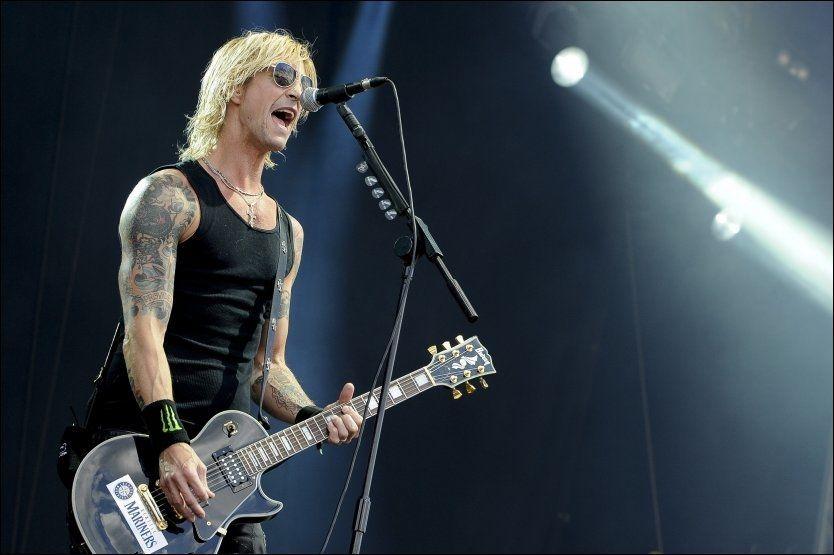 DRAKK MYE: Duff McKagan havnet til slutt på sykehuset på grunn av sitt alkoholmisbruk. Foto: AP