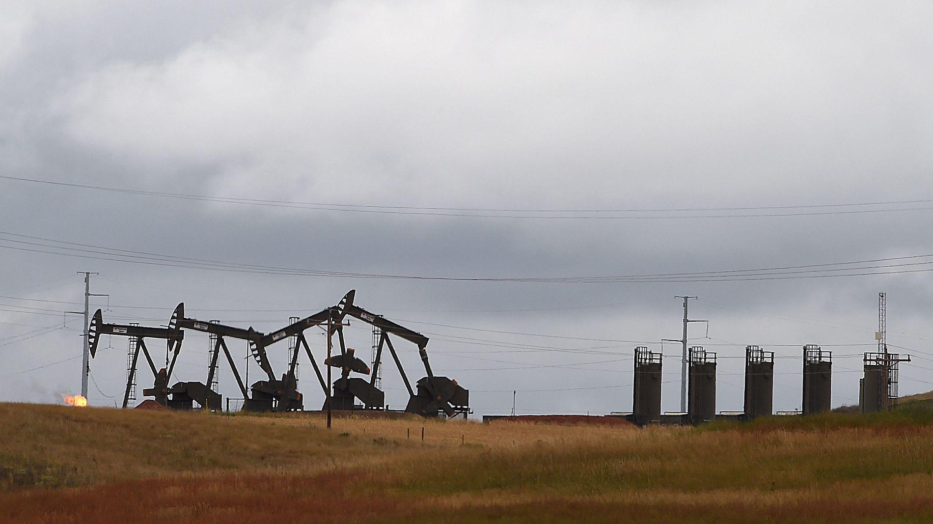 VENTER VEKST: Den voldsomme veksten i USAs oljeproduksjon gjør at verden har nok olje frem til 2020, tror IEA. Også Canada, Brasil og Norge bidrar med vekst de neste årene. Men det trengs mer investeringer etter 2020, mener byrået. Dette er oljepumper i Bakken-området i USA.