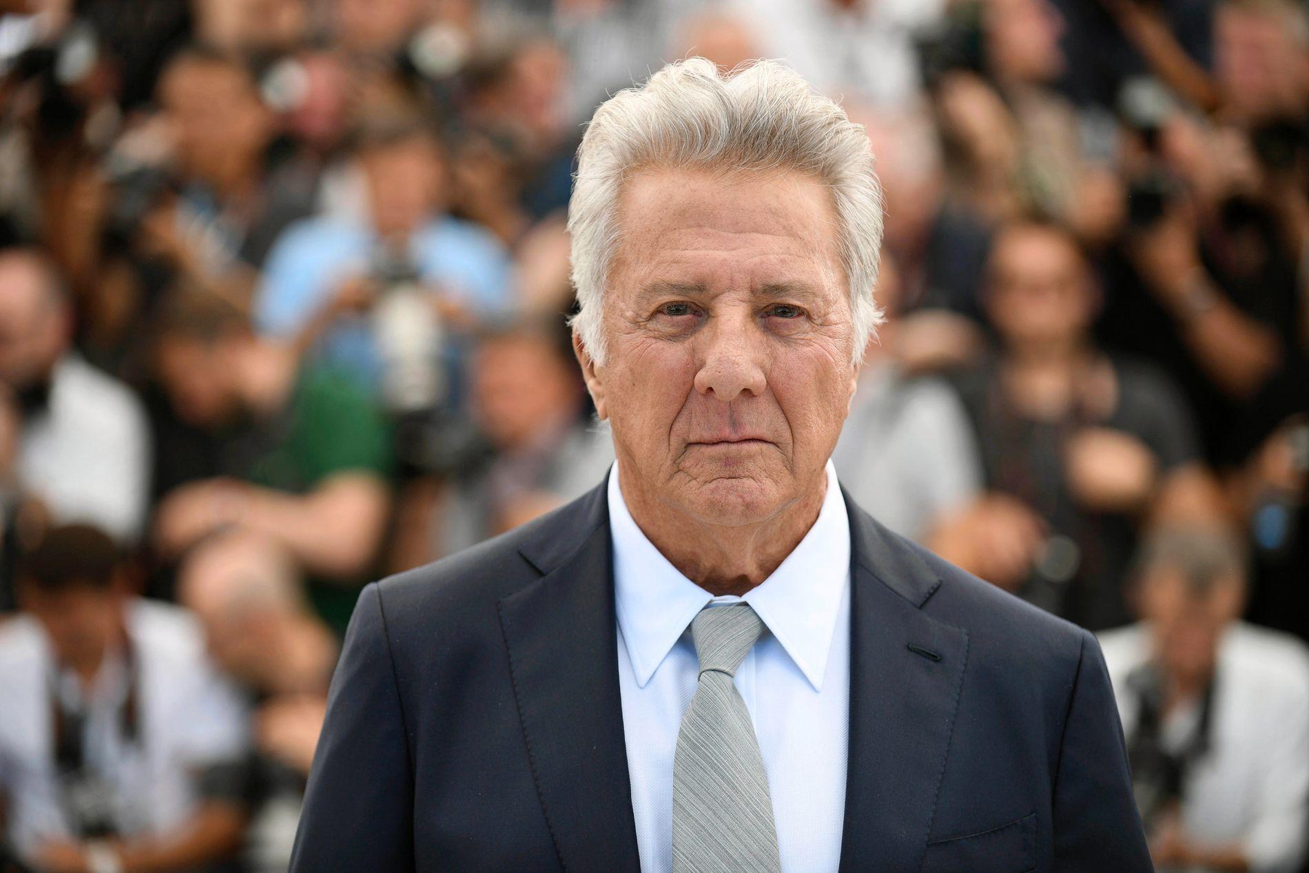 I HARDT VÆR: Dustin Hoffman, her under Filmfestivalen i Cannes i mai i år.