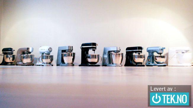 FIKK KJØRT SEG: Ni kjøkkenmaskiner, deriblant noen splitter nye på markedet, har vært innom vårt kjøkken for test.
