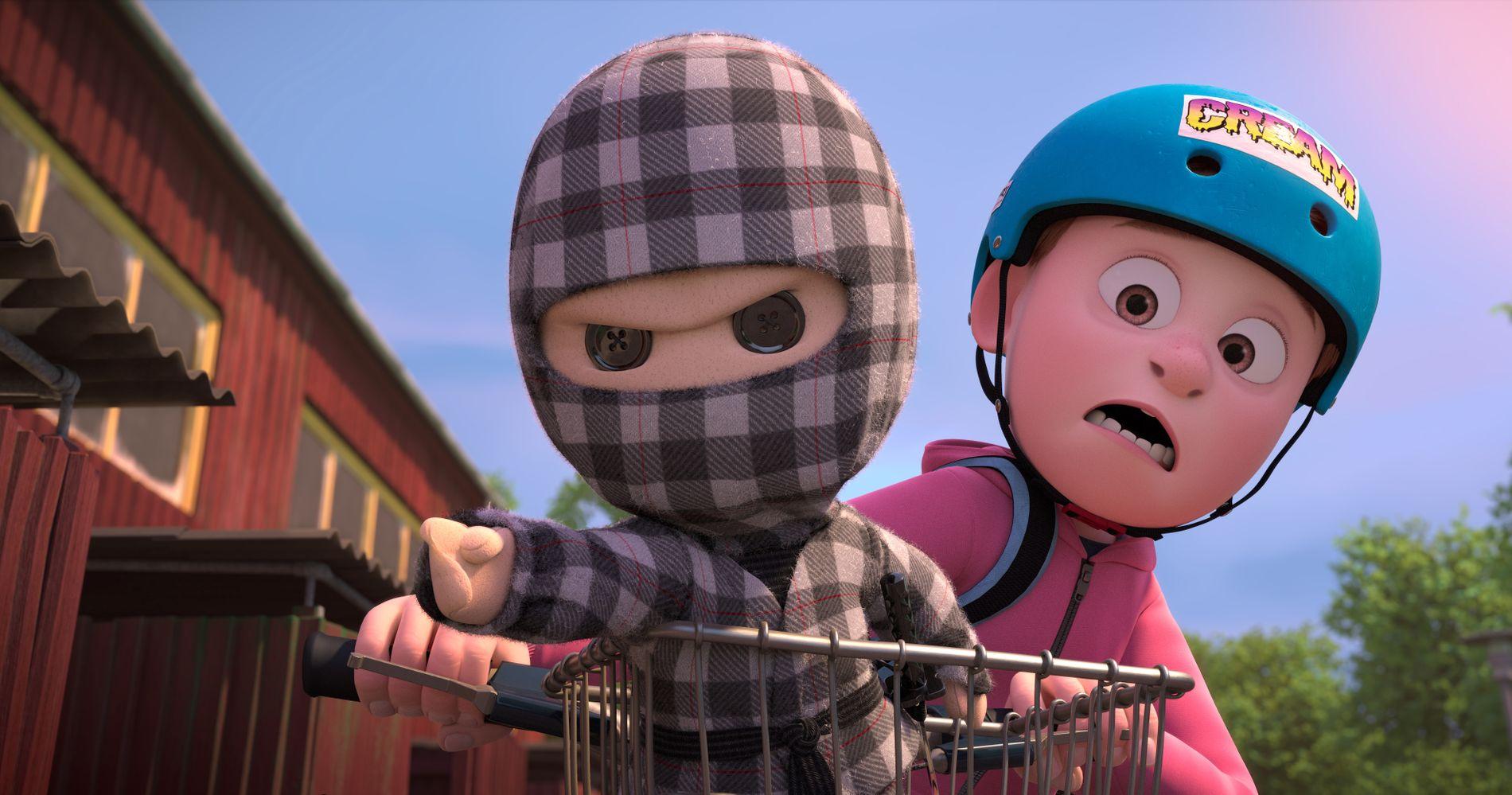 DYNAMISK DANSK DUO: Rutete ninja og Asgeir i filmen som bærer førstnevntes navn.
