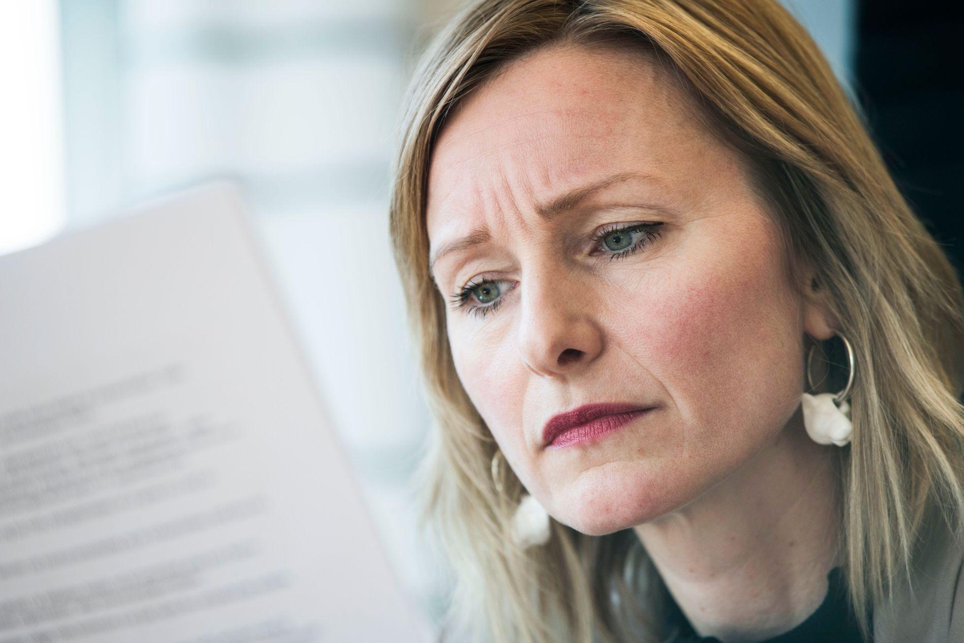 IKKE KJENT MED INNHOLDET: Inga Marte Thorkildsen er ikke kjent med innholdet i varselet som skal ha kommet mot henne utenom hva Aftenposten har gjengitt.